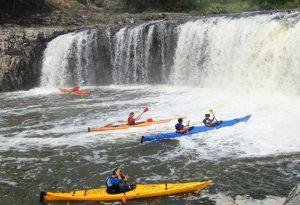 Kayak in Haruru Falls