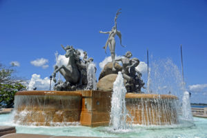 Raices Fountain in Paceo La Princesa Visit the Old San Juan 7 Best Places to Travel in Puerto Rico