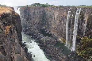 Zambian side complete dry in Victoria Falls