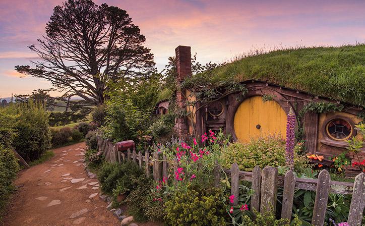 Hobbiton Movie Set in Rotorua North Island NZ