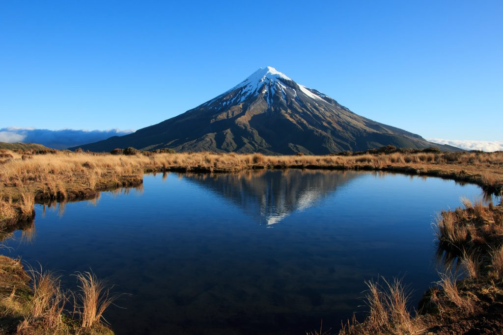 Mount Taranaki in Stratford in NZ