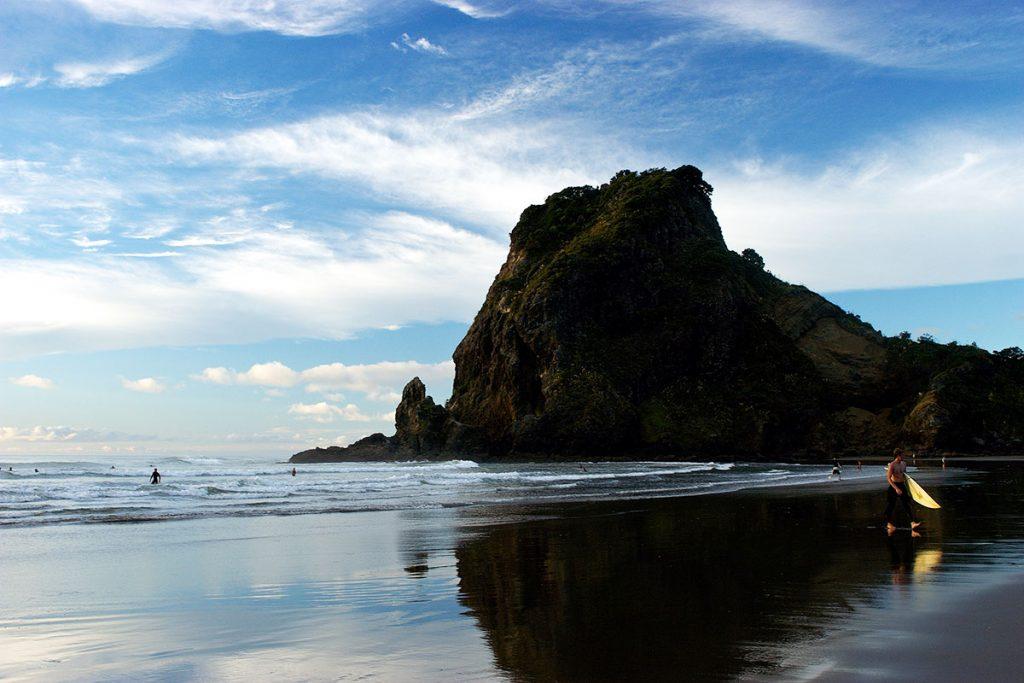 Piha Beach on North Island NZ