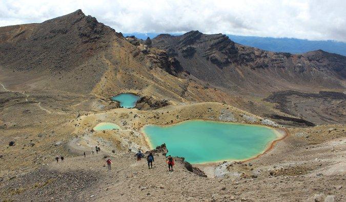 Tongariro Alpine Crossing Hike in New Zealand North Island