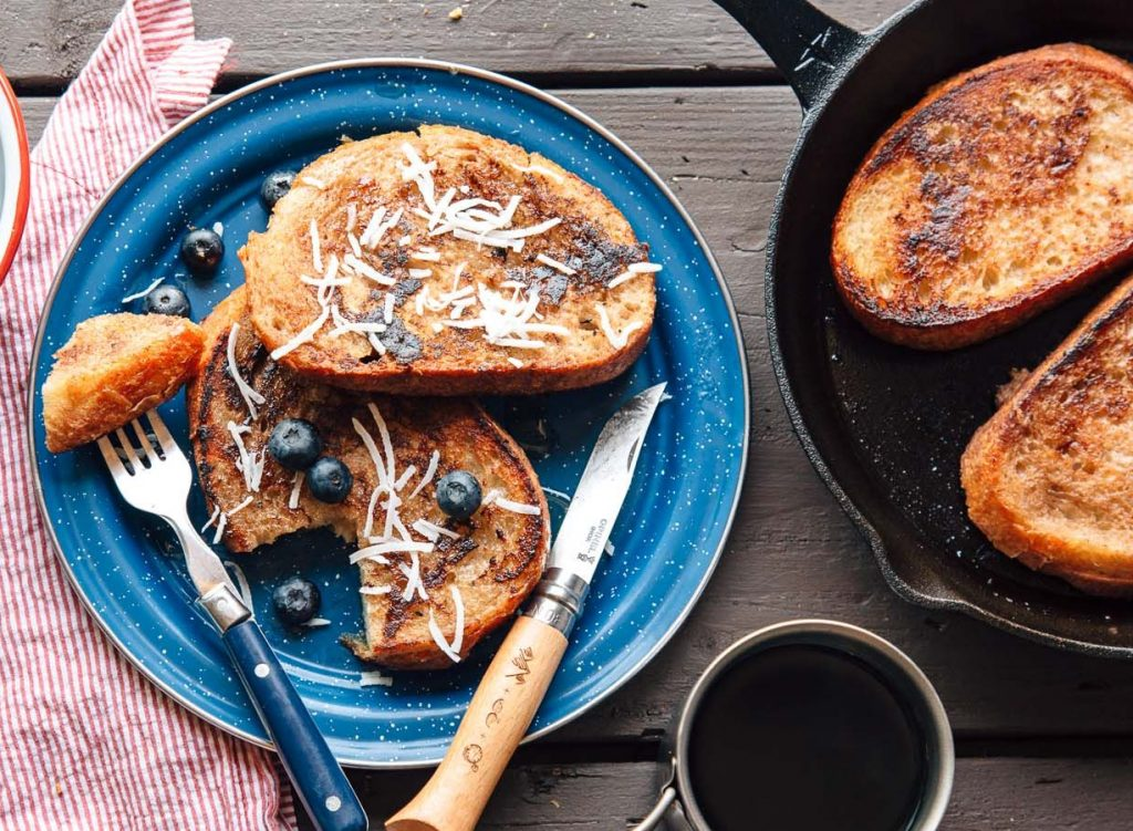 Camping Food Ideas BananaCoconut French Toast