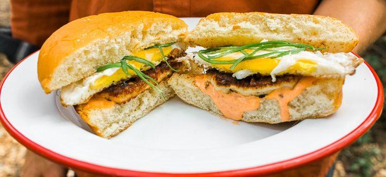 Camping Food Ideas: Halloumi Breakfast Sandwich