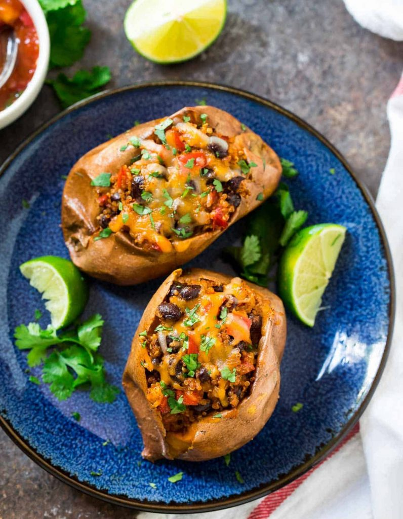 Camping Food Ideas Sweet Potatoes with Chili Wrap