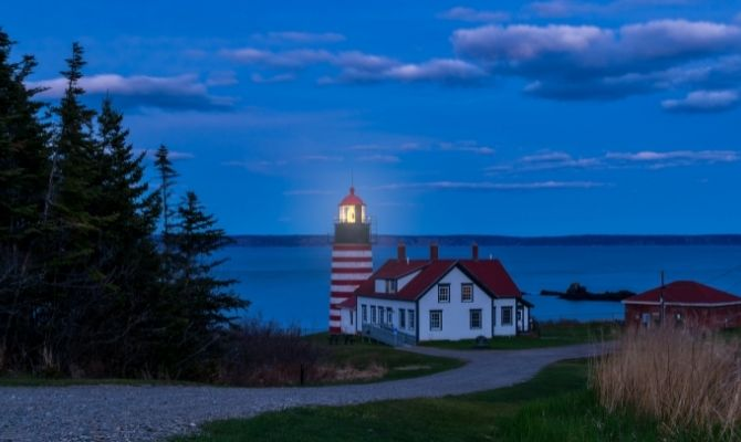 Maine Lighthouses West Quoddy Head Lighthouse