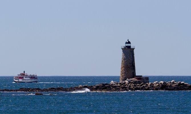 Maine Lighthouses Whaleback Light