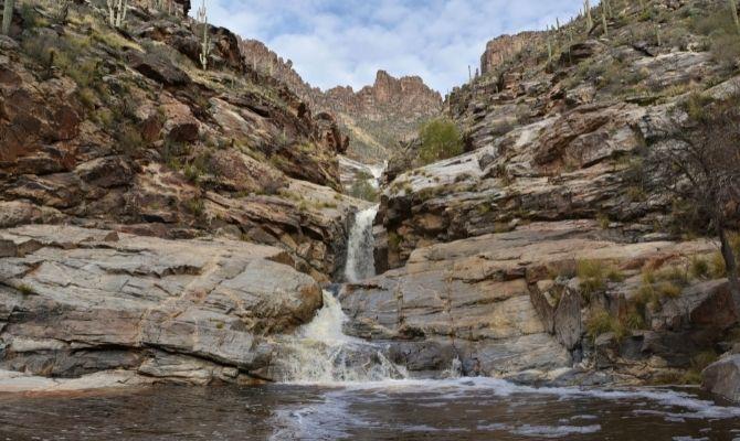Waterfall at Seven Falls Arizona