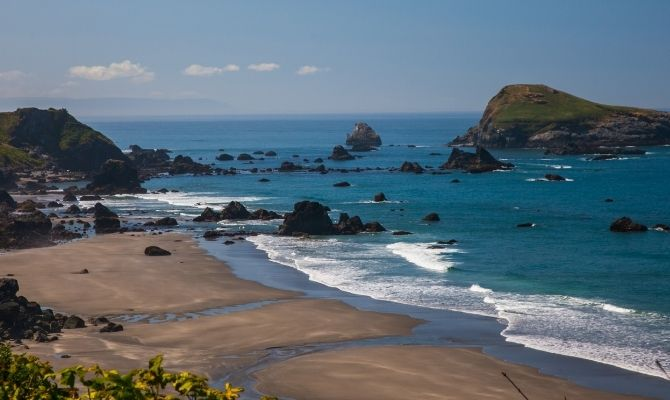 Beaches in Oregon Gold Beach, Curry County