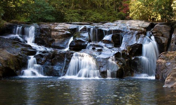 Waterfalls in Georgia Dicks Creek Falls, Clayton
