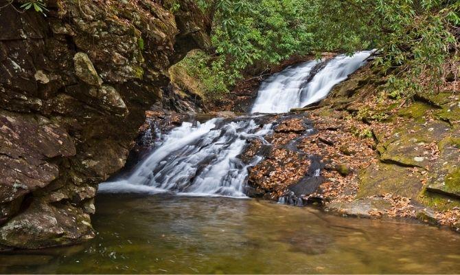 Waterfalls in Georgia Sea Creek Falls, Suches