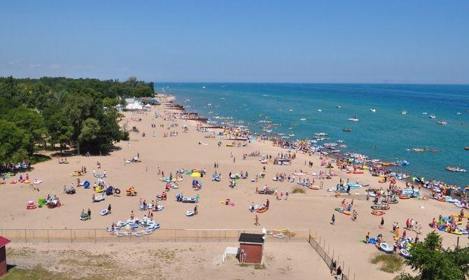 Beaches in Michigan Lakeside Beach