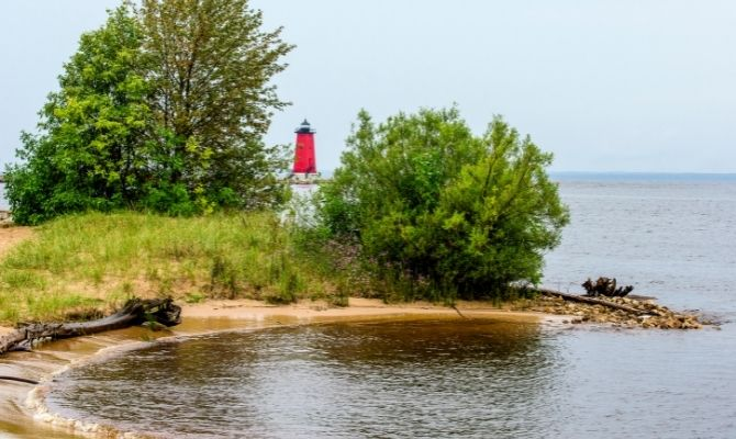 Beaches in Michigan Manistique Beach