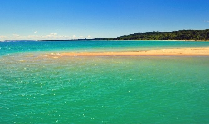 Beaches in Michigan North Manitou Island
