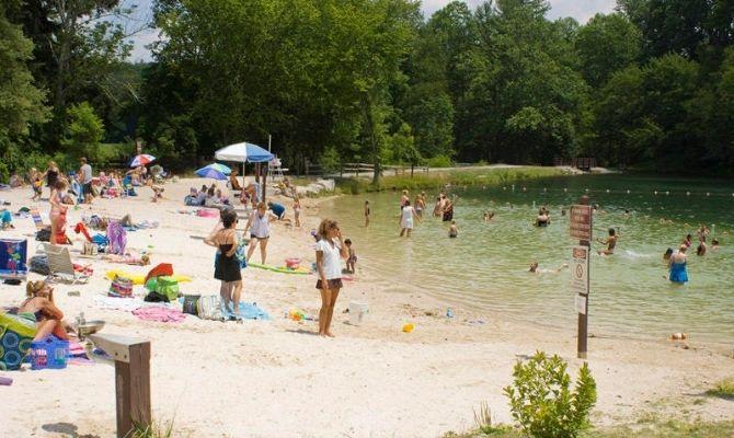 Fuller Lake Beach, Pine Grove Furnace State Park