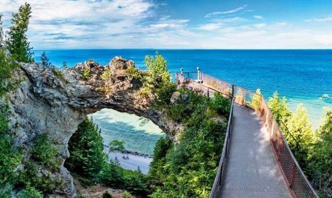 Mackinac Island Arch Rock, Michigan