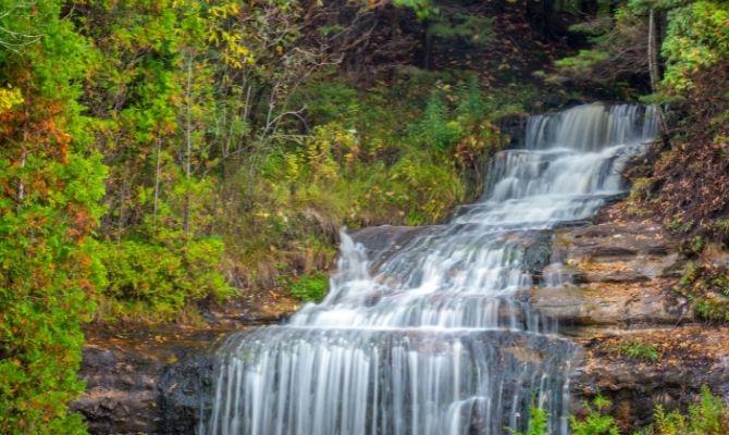 Waterfalls in Michigan Alger Falls