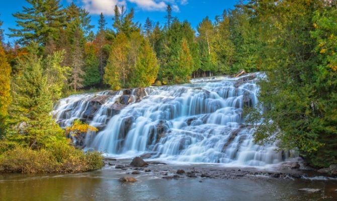 Waterfalls in Michigan Bond Falls