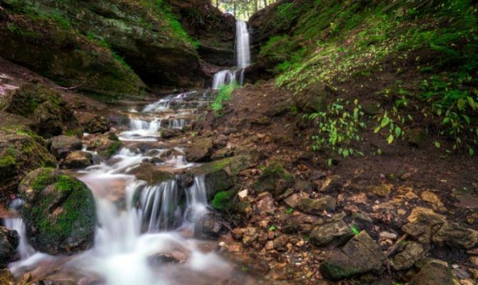 Waterfalls in Michigan: Horseshoe Falls