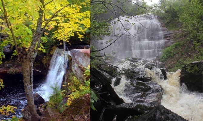 Waterfalls in Michigan Hungarian Falls