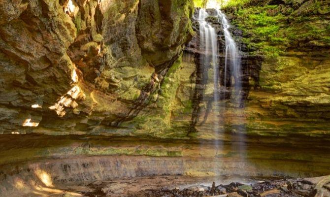 Waterfalls in Michigan Memorial Falls