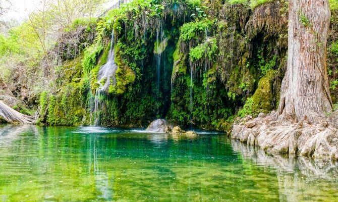 Waterfalls in Texas Krause Springs, Spicewood