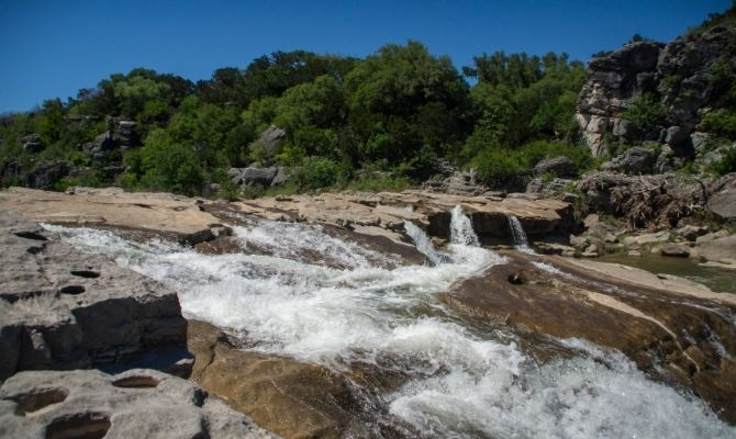 Waterfalls in Texas Pedernales Falls, Pedernales Falls State Park
