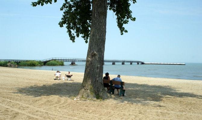 Beaches in Ohio Camp Perry Beach