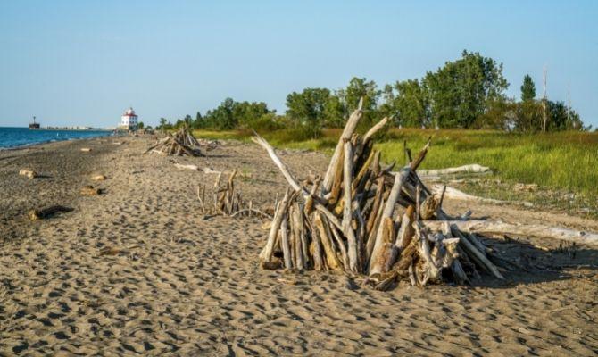 Beaches in Ohio Headlands Beach State Park
