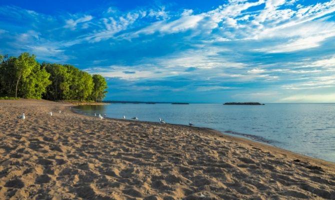Beaches in Ohio Kelleys Island State Park Beach