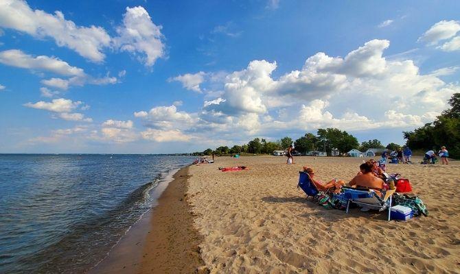 Beaches in Ohio Nickel Plate Beach