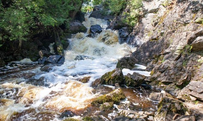 Long Slide Falls, Marinette County