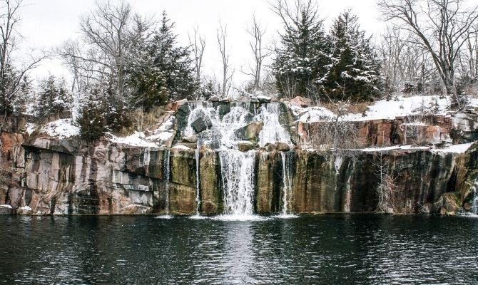 Montello Granite Quarry Waterfalls, Wisconsin