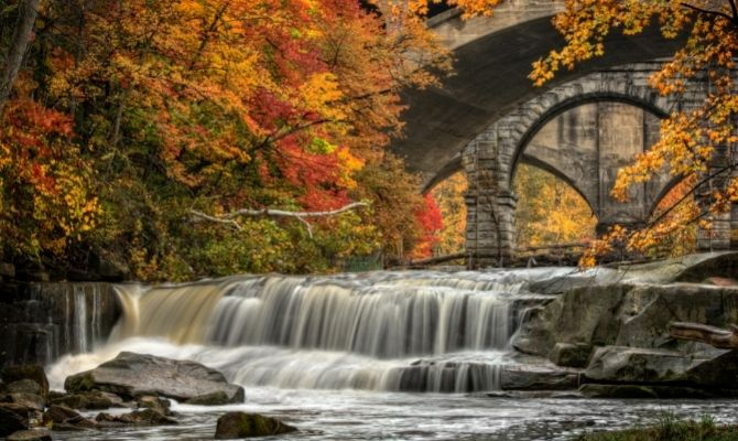 Waterfalls in Ohio Berea Falls