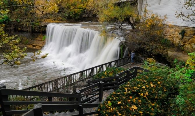 Waterfalls in Ohio Chagrin Falls, Cleveland