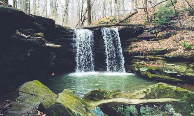 Waterfalls in Ohio Dundee Falls, Beach City Wildlife Area