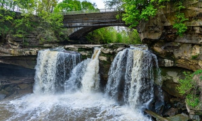 Waterfalls in Ohio West Falls
