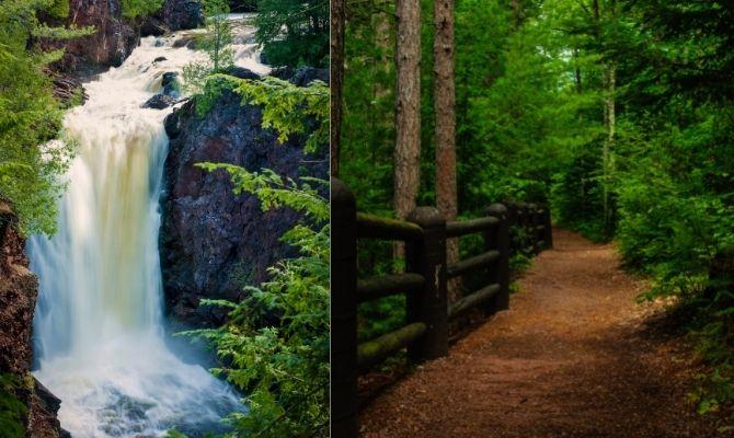 Waterfalls in Wisconsin Brownstone Falls