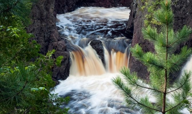 Waterfalls in Wisconsin Copper Falls State Park