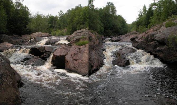 Waterfalls in Wisconsin Red Granite Falls