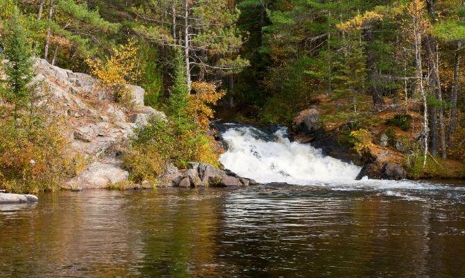 Waterfalls in Wisconsin Twelve Foot Falls