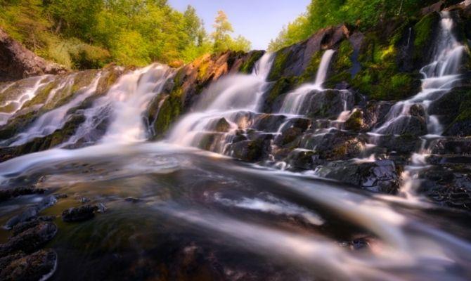 Waterfalls in Wisconsin Upson Falls